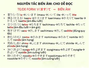 Biến âm trong tiếng Nhật
