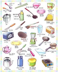 Các vật dụng quen thuộc trong キッチン